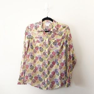 Ariat Snap Front Metallic Western Floral Shirt